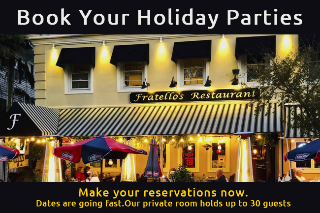 Fratellos holiday booking nj